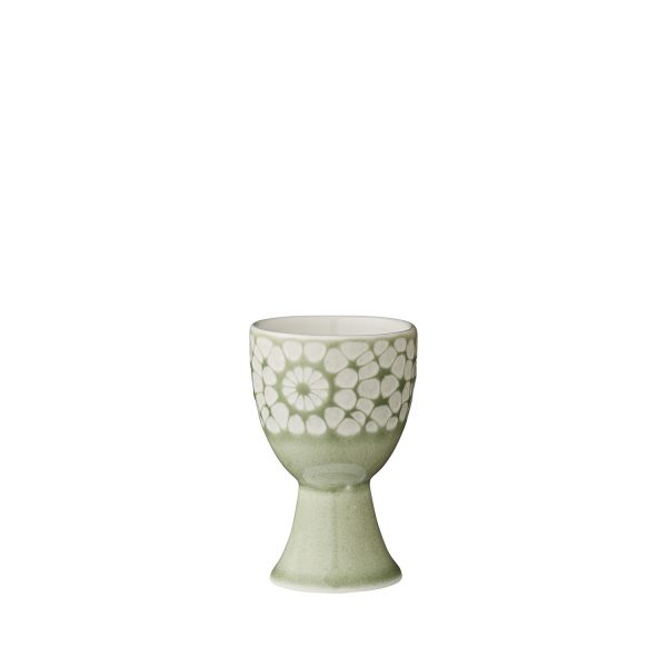 Eierbecher Eierhalter grün Keramik Steingut
