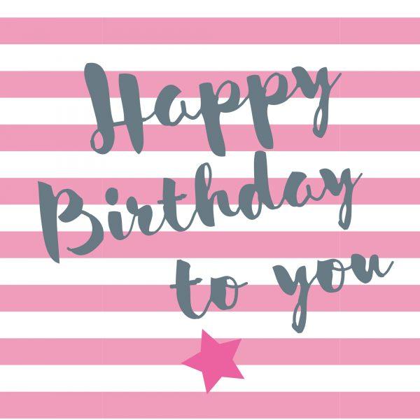 Artebene Serviette Happy Birthday Streifen; Papierserviette; schöne Serviette; Geburtstagsserviette