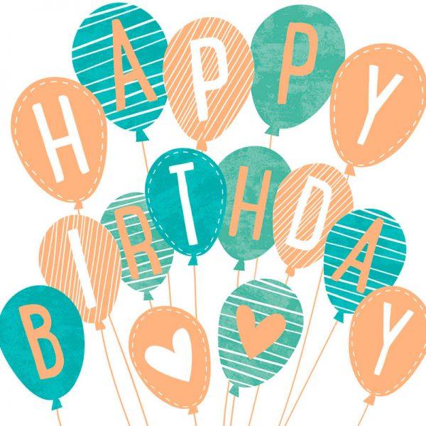 ARTEBENE Serviette Happy Birthday Luftballons