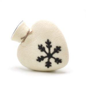 Herzwärmflasche Schneeflocke