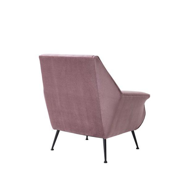 Moderner Stuhl Sessel altrosa lila samt