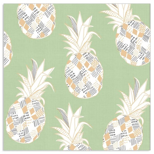 Artebene Serviette Ananas mint tropical Deko
