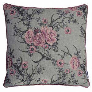 Kissenhülle Tirol mit Paspel (rosa) 45×45