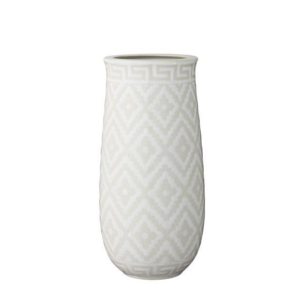 Blumenvase ländliche Vase gemustert hell