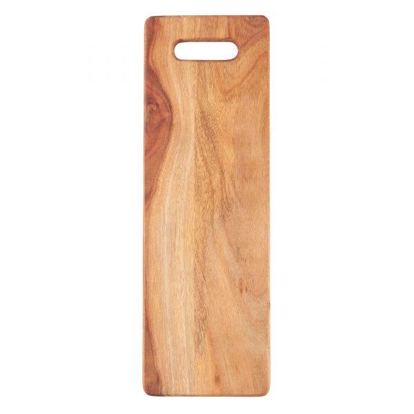 Tapasbrett länglich geölter Akazienholz Schneidebrett Holzbrett Tapasplatte