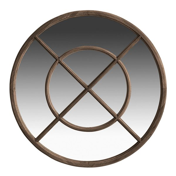 Holzspiegel Dekospiegel rund