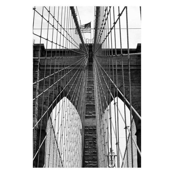 NEW YORK BRIDGE 2 100x150 New York Bridge Skyline Famous Streets Water Bridge cars