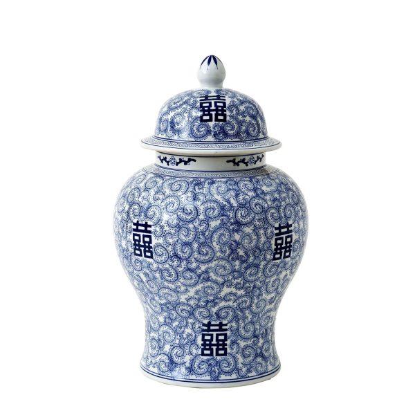 Vase asiatisch bemalt Porzellan