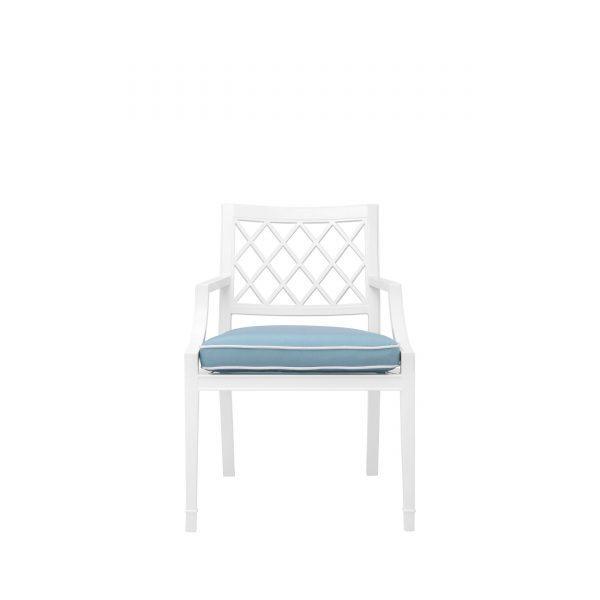 Outdoor-Stuhl mit Sitzkissen