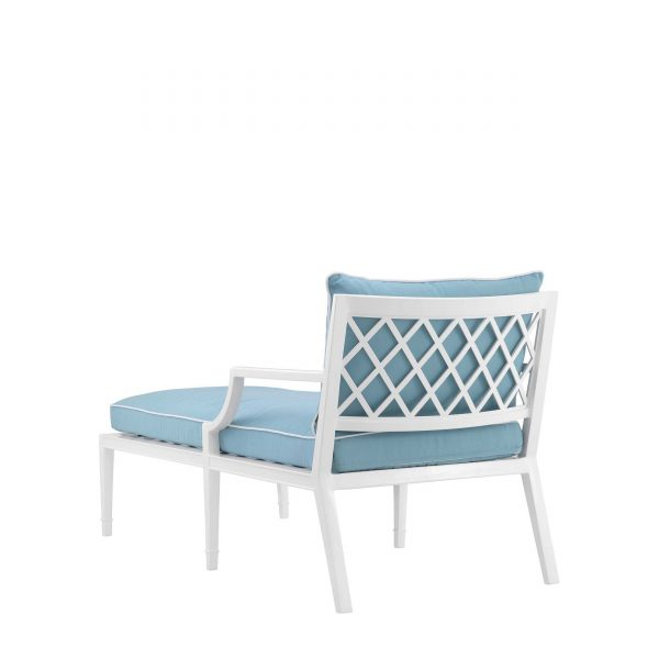 chaise longue weiß blau
