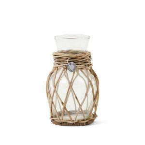 Rustic Rattan Mini Flower Vase