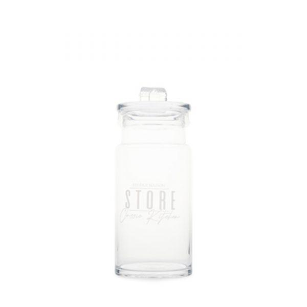 Vorratsdose Storage Jar Cookie Jar beschriftetes Glas Vorratsglas