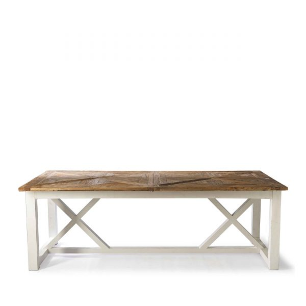 Esstisch, recyceltes Ulmenholz, recyceltes Fichtenholz, Riviera Maison Holztisch, faltbare holzplatten