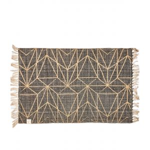 Graphic Print Rug grey