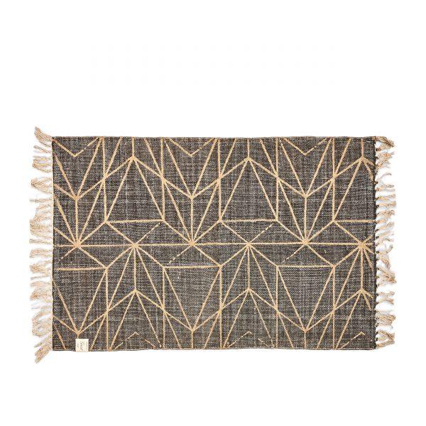 riviera maison teppich, grafikteppich, teppich mit grafik, grau goldener teppich mit muster